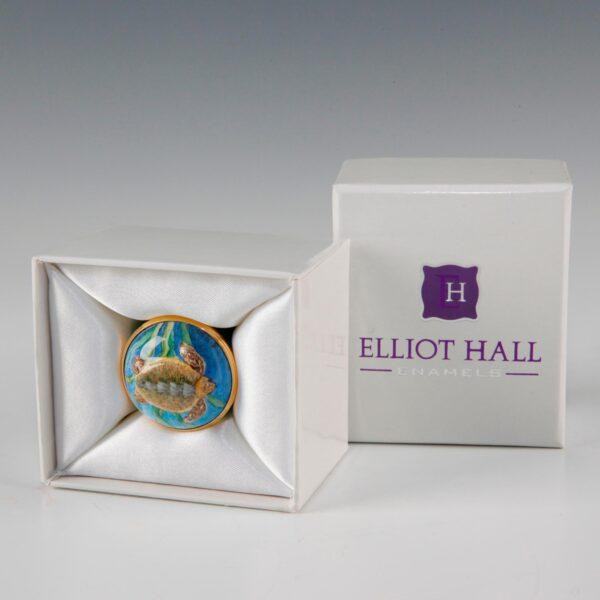 Elliott Hall Enamel Box Turltle