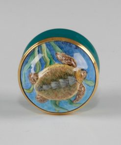 Elliott Hall Enamel Box Turltle